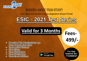 ESIC- 2021 Test Series (3 months) only 499 Rs