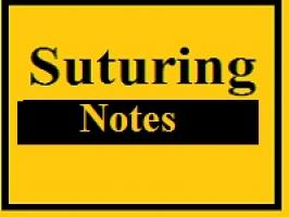 Suturing notes